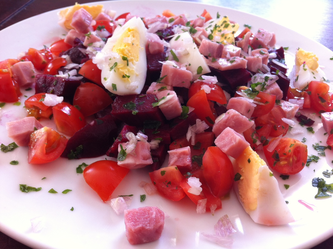 Salade gourmande aux betteraves rouges | La Cuisine de Stephy