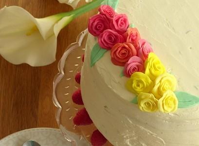 Layer cake citron vert-framboise pour la bataille food 12