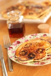 Pancakes  rhum banane raisins secs 44