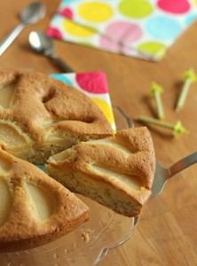 Gâteau cuillère poire 22